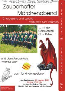 Plakat Chor und Drachen
